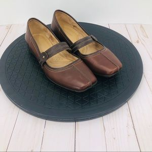 Naturalizer women's brown leather Mary Janes 9.5M